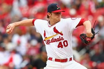 ST. LOUIS, MO - APRIL 28: Starter Shelby Miller #40 of the St. Louis Cardinals pitches against the Pittsburgh Pirates at Busch Stadium on April 28, 2013 in St. Louis, Missouri.  (Photo by Dilip Vishwanat/Getty Images) By Dilip Vishwanat