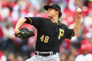 ST. LOUIS, MO - APRIL 28: Starter Jeff Locke #49 of the Pittsburgh Pirates pitches against the St. Louis Cardinals at Busch Stadium on April 28, 2013 in St. Louis, Missouri.  (Photo by Dilip Vishwanat/Getty Images) By Dilip Vishwanat
