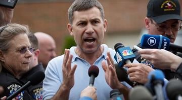 MONTGOMERY VILLAGE, MD - APRIL 19: Ruslan Tsarni, uncle of the suspected Boston Marathon bombing suspects, speaks to reporters in front of his home April 19, 2013 in Montgomery Village, Maryland. / Getty Images/Allison Shelley By Brendan Marks