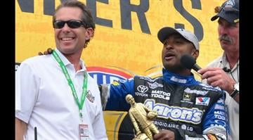 Curtis Francois (L), plans to upgrade and improve the raceway By KMOV Web Producer