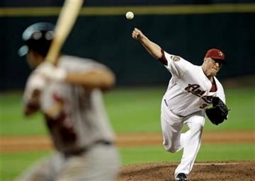 Houston Astros pitcher Brett Myers, right, throws a pitch to St. Louis Cardinals' Jon Jay, left, during the seventh inning of a baseball game Saturday, July 10, 2010 in Houston. (AP Photo/David J. Phillip) By David J. Phillip