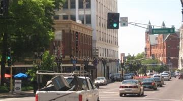 A picture of the Metorpolitan Building in Grand Center. Businesses are trying to attract more people from the Fox Theater and the universities nearby. By KMOV Web Producer