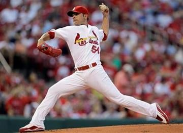 St. Louis Cardinals starting pitcher Jaime Garcia throws during the first inning of a baseball game against the Los Angeles Dodgers on Friday, July 16, 2010, in St. Louis. (AP Photo/Jeff Roberson) By Jeff Roberson