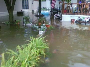 Frederick Woods, a News 4 viewer, sent us photos of the flooding outside of his home in O'Fallon, Illinois. By KMOV Web Producer