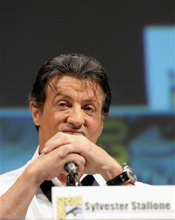 "Actor and director Sylvester Stallone discusses his feature film ""The Expendables"" at Comic Con in San Diego, Calif. on Thursday, July 22, 2010. (AP Photo/Dan Steinberg) By Dan Steinberg"