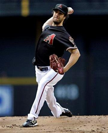 Arizona Diamondbacks pitcher Dan Haren works against the St. Louis Cardinals during the first inning of a baseball game Saturday, June 12, 2010, in Phoenix. (AP Photo/Matt York) By Matt York
