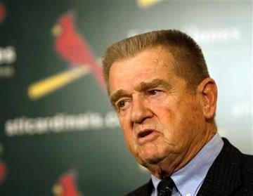 Former St. Louis Cardinals manager Whitey Herzog talks with the media at the news conference to announce his selection to the Baseball Hall of Fame by the veterans committee, Monday, Dec. 7, 2009,  in St. Louis.(AP Photo/Tom Gannam) By Tom Gannam