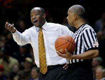 Missouri coach Mike Anderson complains to an official during the second half of an NCAA college basketball game against Vanderbilt on Wednesday, Dec. 2, 2009, in Nashville, Tenn. Vanderbilt won 89-83. (AP Photo/Mark Humphrey) By Mark Humphrey