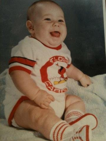 Big Cardinals fan...then and now! By Dan Mueller