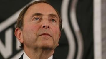NEW YORK, NY - SEPTEMBER 13: Commissioner Gary Bettman of the National Hockey League speaks to the media at Crowne Plaza Times Square on September 13, 2012 in New York City. (Photo by Bruce Bennett/Getty Images) By KMOV Web Producer
