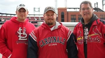 Cardinals fans flocked to Busch Stadium on Friday, October 19, hours before the team was set to take on the San Francisco Giants for a chance to make a second consecutive World Series appearance. By Brendan Marks
