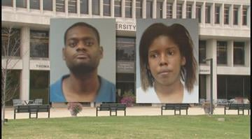 Police say students Larry McCoy, 39, and Danielle Campbell, 28, were stealing library books, then selling them online. By Dan Mueller