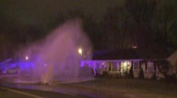 A massive water main break at Carondelet and Morganford sent water shooting into the air early Tuesday morning. By Stephanie Baumer
