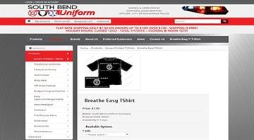"""A T-shirt that reads """"Breathe Easy, Don't Break the Law"""" is creating controversy across the country. The shirt is being produced by South Bend Uniform Company, a company owned by a Mishawaka, Indiana police officer. By Stephanie Baumer"""