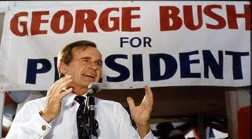 George H. Bush campaigns for the office of President of the United States, 1979 Courtesy: George Bush Presidential Library and Museum By Stephanie Baumer