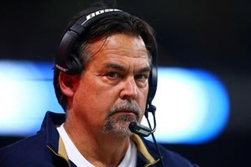 ST LOUIS, MO - DECEMBER 11:  Head coach Jeff Fisher of the St. Louis Rams looks on against the Arizona Cardinals during their game at Edward Jones Dome on December 11, 2014 in St Louis, Missouri.  (Photo by Dilip Vishwanat/Getty Images) By Dilip Vishwanat