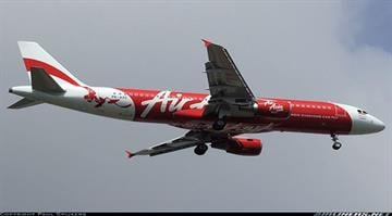 Air traffic controllers lost contact with AirAsia Flight QZ8501, an Airbus A320-216 passenger jet, early Sunday, Dec. 28, 2014. This photo depicts the exact aircraft missing and was taken prior to the disapearance. By Stephanie Baumer