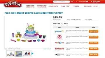 Hasbro is offering to replace the extruder tool in its Play-Doh Cake Mountain playset (far left) after several complaints that the toy resembled a penis. By Stephanie Baumer