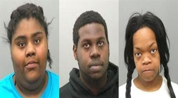 Ronda Atkins-Rogers, Farraad Rogers-Boldenare and Iysha Merritt are facing charges after allegedly looting a beauty supply store in Ferguson Tuesday night with four other suspects. By Stephanie Baumer