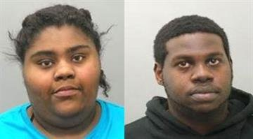 Ronda Atkins-Rogers and Farraad Rogers-Boldenare facing charges after allegedly looting a beauty supply store in Ferguson Tuesday night with four other suspects. By Adam McDonald