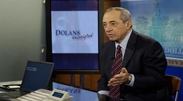 Former New York Governor Mario Cuomo appears on seat of CNNfn's Dolans Unscripted, hosted by Ken and Daria Dolan, on July 8, 2004. By Stephanie Baumer