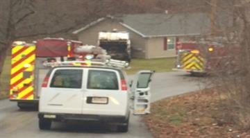 A trash truck crashed into a home in the 50 block of Lillian Lane in St. Charles causing a gas leak. By Stephanie Baumer