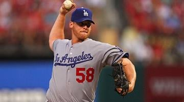ST. LOUIS, MO - JULY 23: Starter Chad Billingsley #58 of the Los Angeles Dodgers pitches against the St. Louis Cardinals at Busch Stadium on July 23, 2012 in St. Louis, Missouri. (Photo by Dilip Vishwanat/Getty Images)