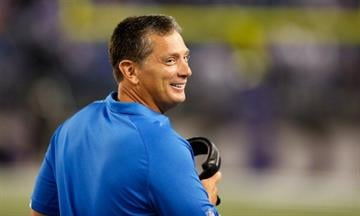 BALTIMORE, MD - AUGUST 17:  Head coach Jim Schwartz of the Detroit Lions looks on from the sidelines against the Baltimore Ravens at M&T Bank Stadium on August 17, 2012 in Baltimore, Maryland.  (Photo by Rob Carr/Getty Images) By Rob Carr