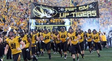 The Missouri Tigers take to the field for a game against the Georgia Bulldogs at Faurot Field in Columbia, Missouri on September 8, 2012. This game marks the first for Missouri as a member of the SEC Conference. UPI/Bill Greenblatt By Dan Mueller