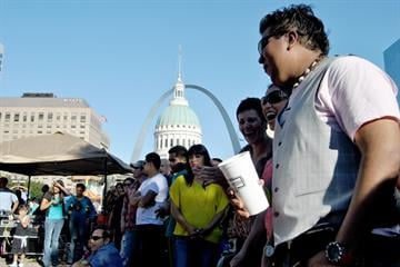 Hispanic food, music and festivities were celebrated downtown at Kiener Plaza on 9/9/12 By KMOV Web Producer