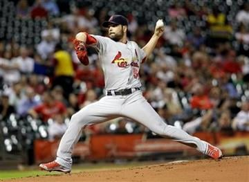 St. Louis Cardinals starting pitcher Jaime Garcia throws during the first inning of a baseball game against the Houston Astros, Monday, Sept. 26, 2011, in Houston. (AP Photo/David J. Phillip) By David J. Phillip