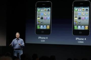 Apple's Phil Schiller talks about the iPhone 4S  world phone during an announcement at Apple headquarters in Cupertino, Calif., Tuesday, Oct. 4, 2011.  (AP Photo/Paul Sakuma) By Paul Sakuma