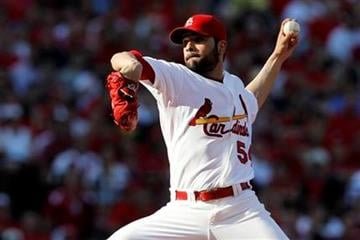 St. Louis Cardinals starting pitcher Jaime Garcia throws during the second inning of Game 3 of baseball's National League division series against the Philadelphia Phillies on Tuesday, Oct. 4, 2011, in St. Louis. (AP Photo/Jeff Roberson) By Jeff Roberson
