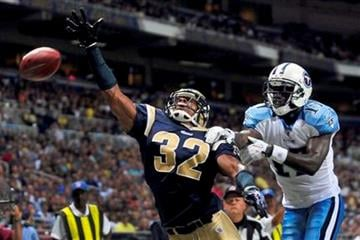 St. Louis Rams cornerback Bradley Fletcher, left, knocks away a pass intended for Tennessee Titans wide receiver Damian Williams during the second quarter of an NFL football game Saturday, Aug. 20, 2011, in St. Louis. (AP Photo/Jeff Curry) By Jeff Curry