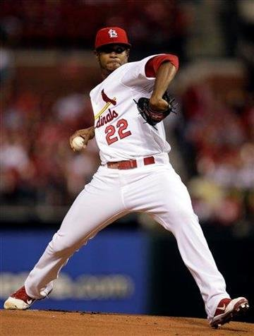 St. Louis Cardinals starting pitcher Edwin Jackson (22) pitches in the first inning of a baseball game against the New York Mets, Tuesday, Sept. 20, 2011 in St. Louis.(AP Photo/Tom Gannam) By Tom Gannam