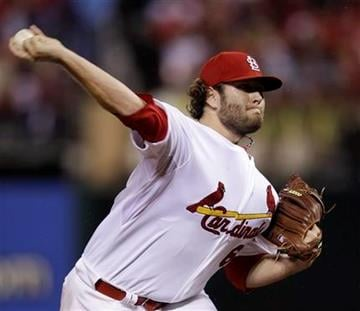 St. Louis Cardinals relief pitcher Lance Lynn throws during the seventh inning of Game 3 of baseball's National League championship series against the Milwaukee Brewers Wednesday, Oct. 12, 2011, in St. Louis. (AP Photo/Matt Slocum) By Matt Slocum