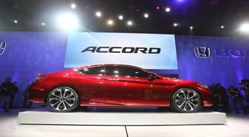 The Honda Accord Concept vehicle on display at the 2012 North American International Auto Show in Detroit Michigan, January 10, 2012. AFP PHOTO/Geoff Robins (Photo credit should read GEOFF ROBINS/AFP/Getty Images) By GEOFF ROBINS