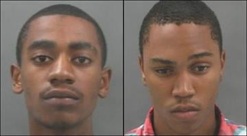Keith Esters (left) and Johnathan Perkins (right) face murder, burglary and armed criminal action charges in the death of former SLU volleyball player Megan Boken. By Brendan Marks