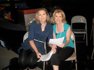 Dr. Teresa Knight and Dr. Jill Grimes in the Great Day Studio.