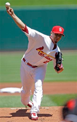 St. Louis Cardinals starting pitcher Kyle Lohse (26) pitches in the first inning of a baseball game against the Los Angeles Angels, Saturday, May 22, 2010, in St. Louis. (AP Photo/Tom Gannam) By Tom Gannam