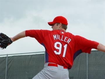 Cardinals 2009 first round draft pick Shelby Miller throws his first bullpen session at a big league camp on Tuesday.