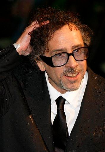 US Director Tim Burton arrives for the Royal World Premiere of the movie Alice in Wonderland in Leicester Square, London, Thursday, Feb. 25, 2010. (AP Photo/Kirsty Wigglesworth) By Kirsty Wigglesworth