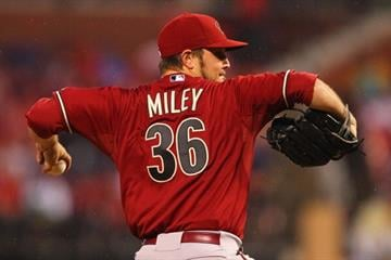 ST. LOUIS, MO - JUNE 5: Starter Wade Miley #36 of the Arizona Diamondbacks pitches against the St. Louis Cardinals at Busch Stadium on June 5, 2013 in St. Louis, Missouri.  (Photo by Dilip Vishwanat/Getty Images) By Dilip Vishwanat