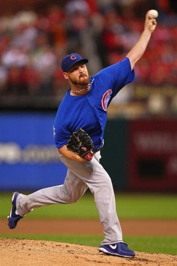 ST. LOUIS, MO - JUNE 17:  Starter Travis Wood #37 of the Chicago Cubs pitches against the St. Louis Cardinals at Busch Stadium on June 17, 2013 in St. Louis, Missouri.  (Photo by Dilip Vishwanat/Getty Images) By Dilip Vishwanat