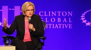 ST. LOUIS, MO - APRIL 6:  U.S. Sen. Claire McCaskill (D-MO) attends the Clinton Global Initiative University at Washington University on April 6, 2013 in St Louis Missouri. (Photo by Dilip Vishwanat/Getty Images) By Dilip Vishwanat