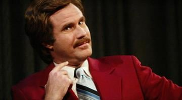 """Actor Will Ferrell aka Ron Burgundy participates in Q&A after a special screening of the film """"Anchorman: The Legend of Ron Burgundy"""" on July 7, 2004 in New York. By KMOV Web Producer"""