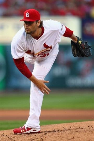 ST. LOUIS, MO - JUNE 13: Starter Lance Lynn #31 of the St. Louis Cardinals pitches against the Chicago White Sox at Busch Stadium on June 13, 2012 in St. Louis, Missouri.  (Photo by Dilip Vishwanat/Getty Images) By Dilip Vishwanat