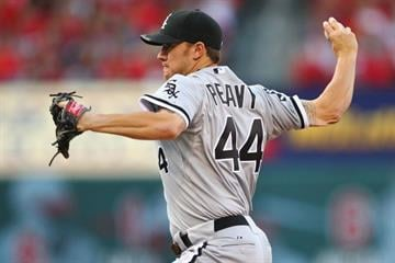 ST. LOUIS, MO - JUNE 13: Starter Jake Peavy #44 of the Chicago White Sox pitches against the St. Louis Cardinals at Busch Stadium on June 13, 2012 in St. Louis, Missouri.  (Photo by Dilip Vishwanat/Getty Images) By Dilip Vishwanat