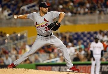 MIAMI, FL - JUNE 25:  Jake Westbrook #35 of the St. Louis Cardinals pitches during a game against the Miami Marlins at Marlins Park on June 25, 2012 in Miami, Florida.  (Photo by Mike Ehrmann/Getty Images) By Mike Ehrmann