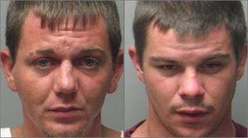 Dustin Maas, 30, (left) and Matthew Haney, 23, are accused of stealing a Freightliner truck from the parking lot of the Red Roof Inn in the 2000 block of Zumbehl Road around 3:20 a.m. By Belo Content KMOV